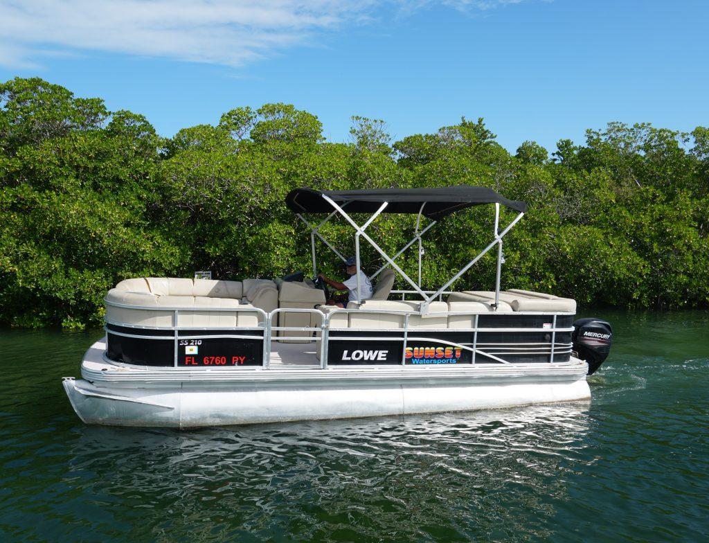 22 foot pontoon boat rental key west