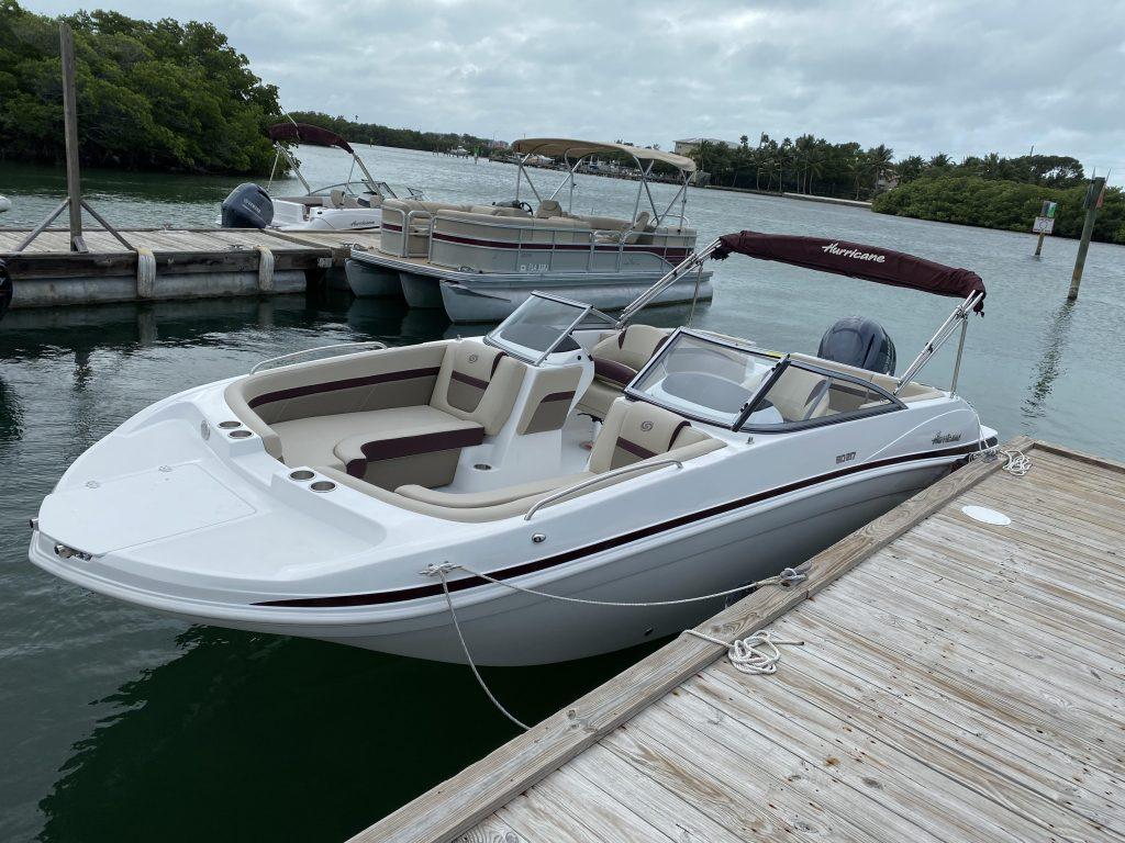 22ft deck boat